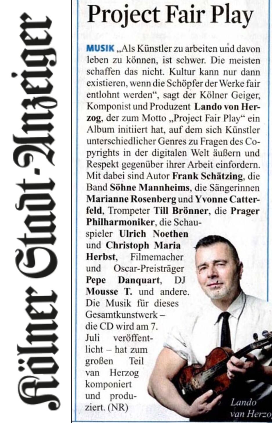 Kölner Stadtanzeiger 09.06.17 +